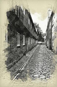 St Margarets Lane, Kings Lynn, England by John Edwards