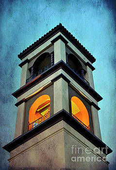 St. Mary's Catholic Church Bell Tower by Debby Pueschel