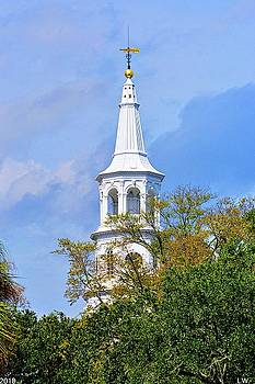 St. Michael Episcopal Church Steeple by Lisa Wooten