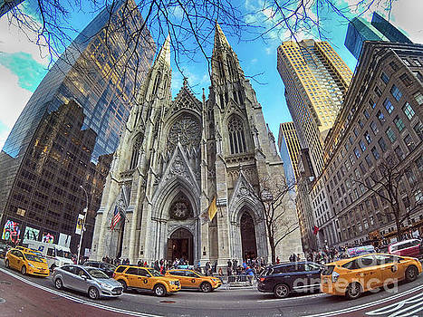 St. Patrick's Cathedral Wide Angle by Nishanth Gopinathan