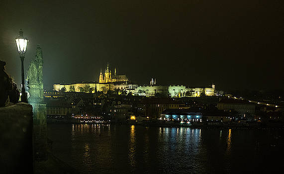 St. Vitus Cathedral at Night by Mark Duehmig