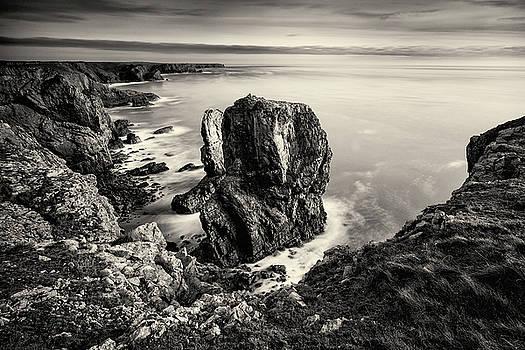 Stack Rocks - Black and White by Elliott Coleman