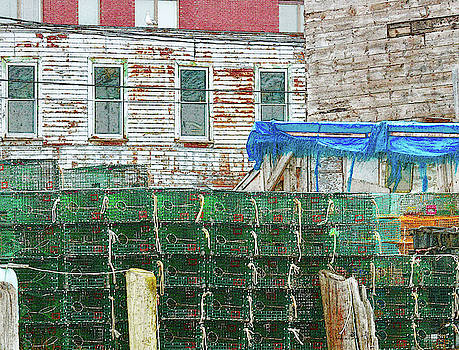 Stacked Lobster Traps by Sandra Day