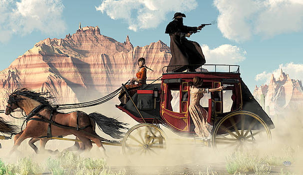 Stagecoach Chase by Daniel Eskridge