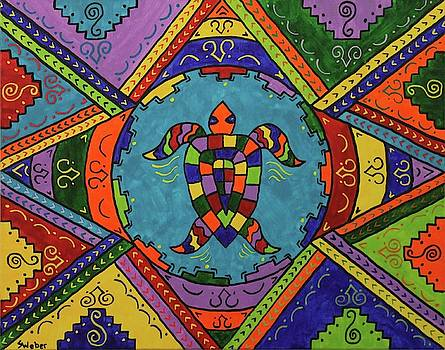 Stained Glass Turtle by Susie WEBER