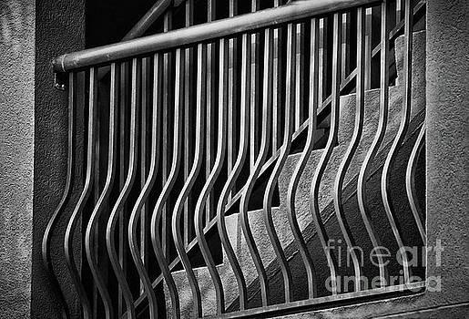 Stair Shadows Black and White by Karen Adams