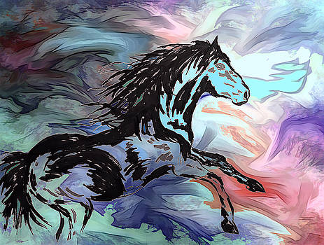 Stallion by Abstract Angel Artist Stephen K
