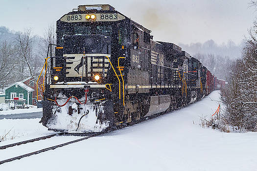 Standard Cab Dash 9 in the Snow by Greg Booher