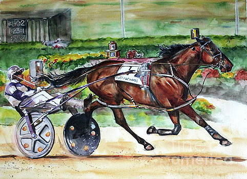 Standardbred Horse by Maria's Watercolor