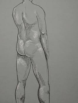 Standing Nude - Rear by John Eric Goines