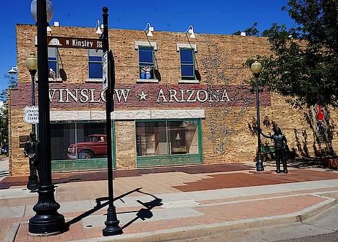Standing On A Corner In Winslow Arizona by Barkley Simpson