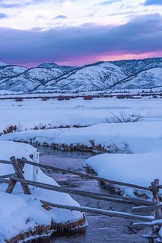 Star Valley Winter Sunrise by Barbara Hayton