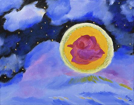 Starlight Rose Moon by Meryl Goudey