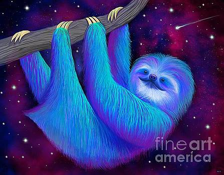 Starry Night Sloth by Nick Gustafson