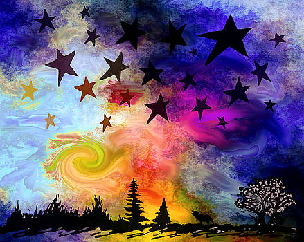 Stars and Stars and Stars by Abstract Angel Artist Stephen K