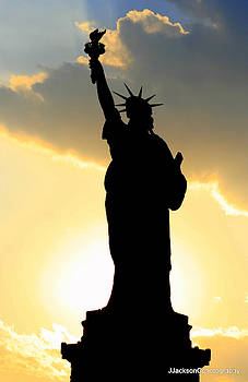 Statue of Liberty at Sunset by Jonathan Jackson Coe