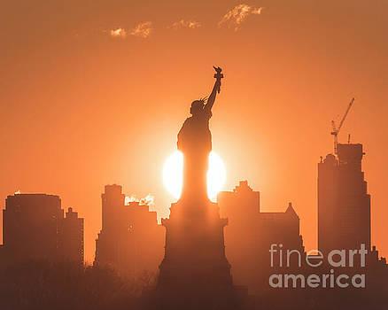 Statue of Liberty Sunrise by Zawhaus Photography