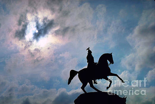 Statue to Peter the Great Galloping Horse,  by Wernher Krutein