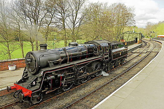 Steam Loco 76079 at Pickering Station by Rod Johnson