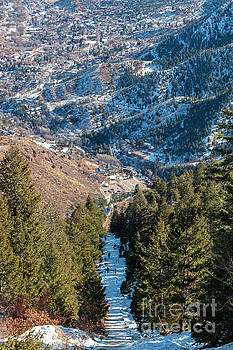 Steep Manitou Incline in Winter by Steve Krull