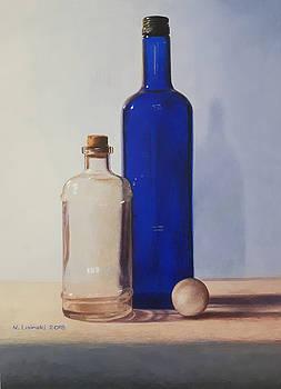 Still Life with Blue Bottle by Norb Lisinski