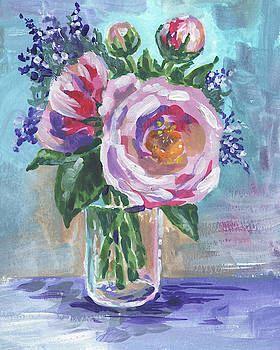 Irina Sztukowski - Still Life With Flowers Bouquet Floral Impressionism