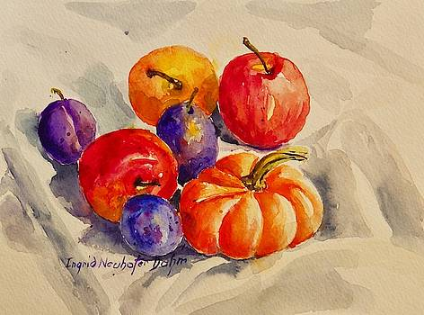 Still Life with Fruit by Ingrid Dohm