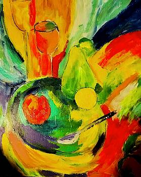 Still Life with Pear by Carol Stanley