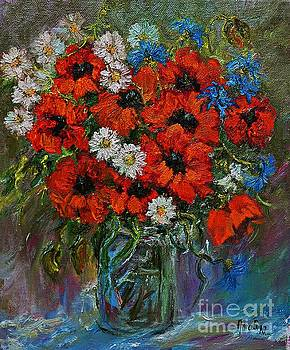 Still life with poppies flowers by Amalia Suruceanu