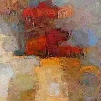 Still Life with Red Tulips by Don Berg