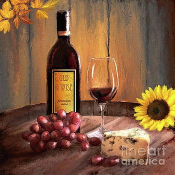 Still Life with Wine by Anne Vis
