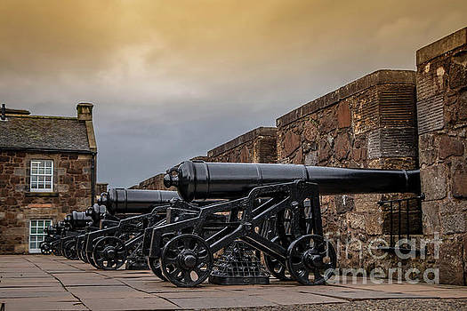 Stirling Castle Canons by Elizabeth Dow