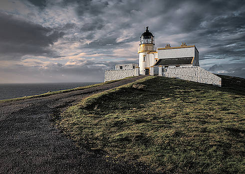 Stoer Head Lighthouse Sunset by Dave Bowman