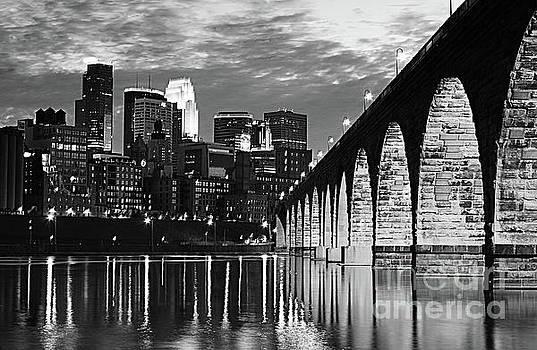Wayne Moran - Stone Arch Bridge Minneapolis Bw V4