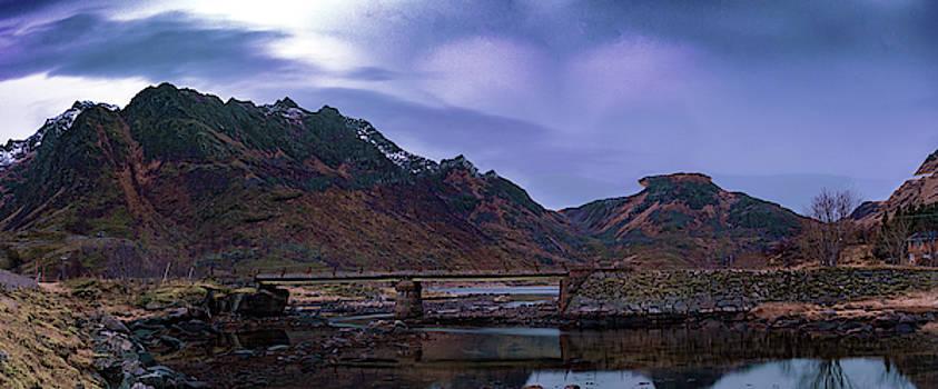 Stone Bridge on Lofoten Islands  by Kai Mueller