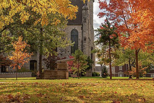 Stone Chapel Autumn by Allin Sorenson