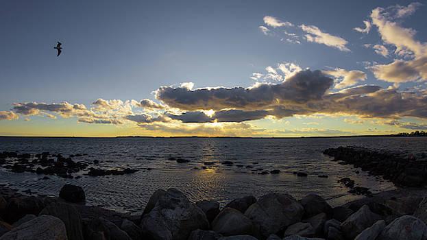 Stonington Point Cloudy Sunset 2019 by Kirkodd Photography Of New England
