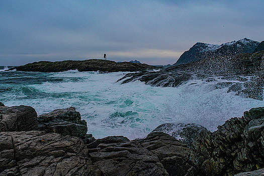 Storm at the Norwegian coastline by Kai Mueller