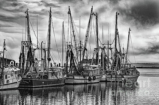Storm Clouds - Shem Creek - Shrimp Boats by Dale Powell
