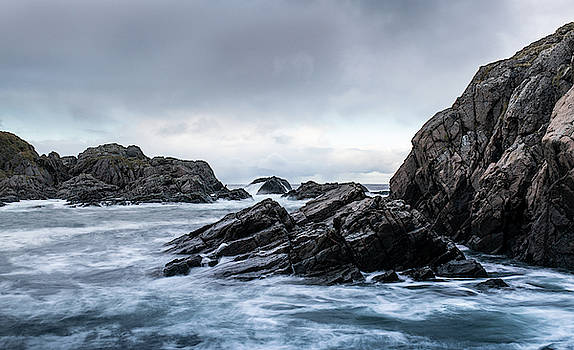 Storm on the rocks Norway by Kai Mueller