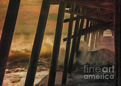 Storm Under The Pier by Kelley Freel-Ebner