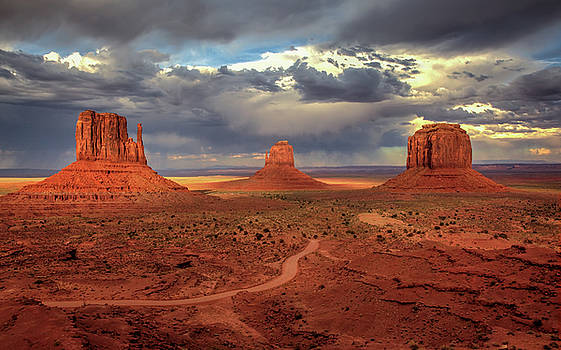Stormy Background by Harriet Feagin
