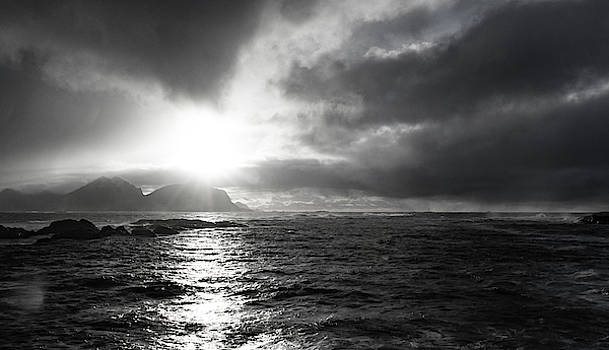 stormy coastline in northern Norway by Kai Mueller