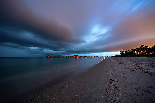 Stormy Morning Pier by Joey Waves