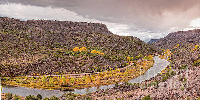 Stormy Skies Over the Rio Grande Del Norte at Orilla Verde - Taos County New Mexico by Silvio Ligutti