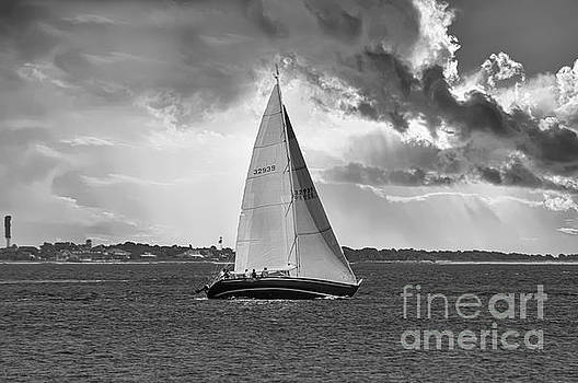 Stormy Skies Sailing by Dale Powell