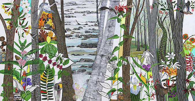Stream in the Woods by Trena McNabb