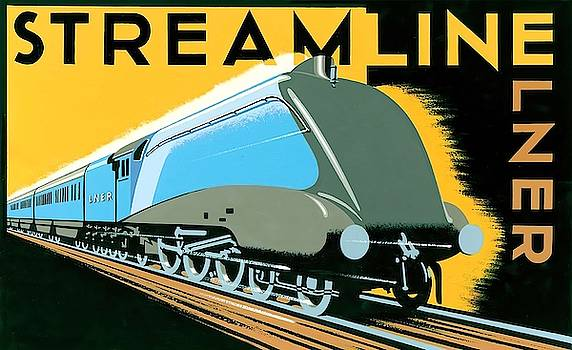 Streamline train Wall Art by Brian James