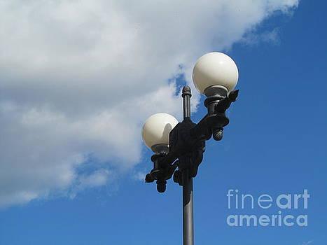 Street Lamp And Sky by Galina Lavrova