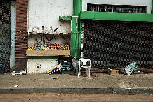 Street side selling by Vladan Radulovic